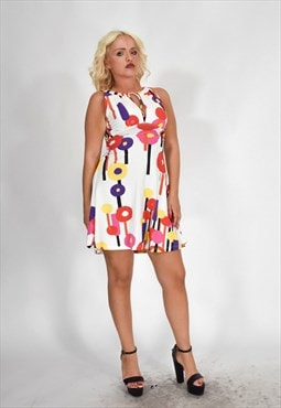 JUST CAVALLI Elegant Day Dress Floral