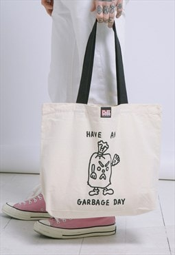 Playdude Garbage Day Canvas Tote Bag