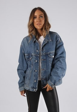 Vintage Denim Jacket Oversized Fitted UK 18 XXL (JR3J)