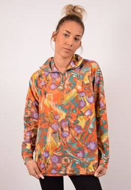 Vintage Fleece Top Long Sleeve Multi