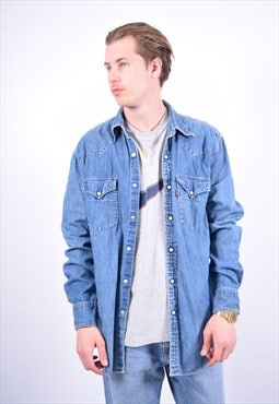 Vintage Levi's Denim Shirt Blue