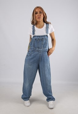 Vintage Denim Dungarees Wide XHILARATION UK 12 M (B3Z)