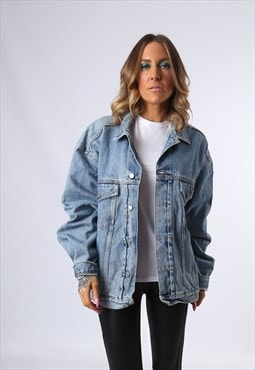 Denim Jacket H.I.S Oversized Fitted UK 20 - 22  (E4CR)