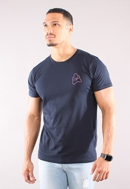 Core LW T-Shirt - Navy / Baby Pink