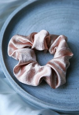 Satin textured luxe hair scrunchie