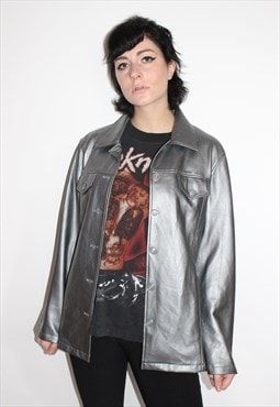 PVC Metallic Silver Jacket