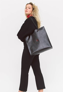SHOPPING TOTE black - red logo
