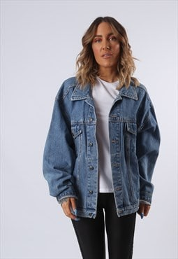 Denim Jacket EAGLE No 1 Oversized Fitted UK 18 (G6AZ)