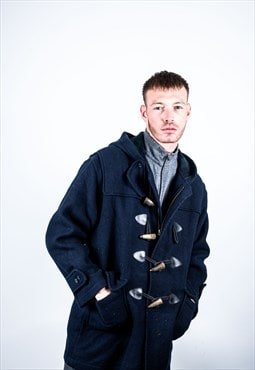 Vintage Duffle Coat in Navy Blue