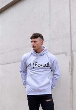 Large Graphic Pullover Hoody - Heather Grey/Black