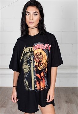 Iron Maiden Metallica Reconstructed Unisex T-shirt Dress