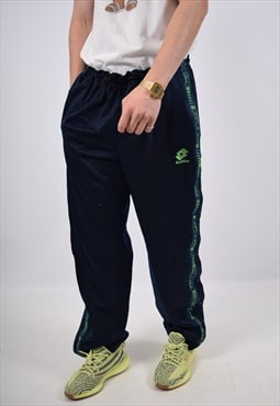 Vintage Lotto Tracksuit Trousers Navy Blue