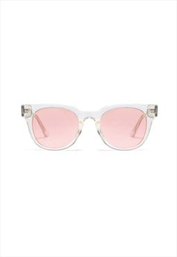 Jamie Circle Retro Sunglasses Pink