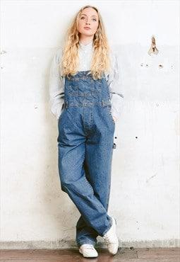 Vintage 90s Blue Denim Dungarees