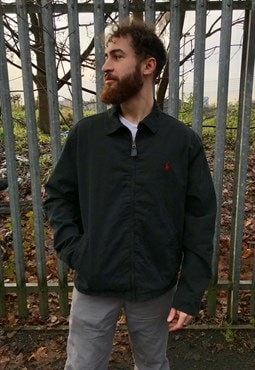 Vintage Ralph Lauren black harrington jacket