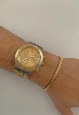 SERPENTINE ORO. Gold Chunky Snake Chain Bracelet