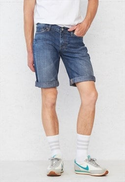 Vintage Retro Blue FOR ALL 7 MANKIND Denim Shorts