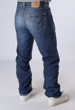 LEVIS 501's Blue Denim Jeans W36 L38 RARE Long Leg (CN2N)