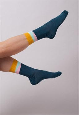Legion blue geom ankle socks