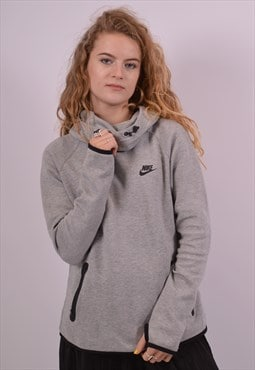 Nike Womens Vintage Hoodie Jumper Medium Grey 90s