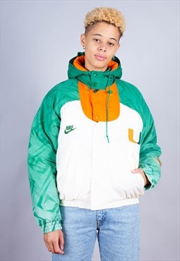 90's Nike Colour Block Miami Hurricanes Jacket - B1230