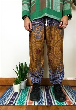 Fairtrade Orange Mandala Hippie Harems / Trousers