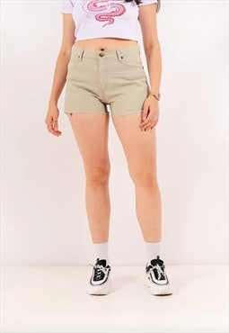 Vintage Lee Cut-Off Denim Shorts Beige