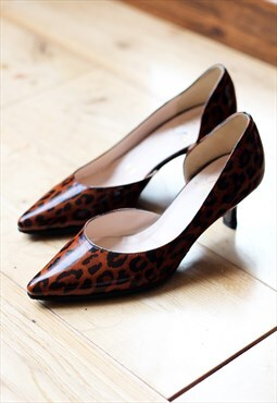 Pretty Small Shoes Timpson Mid Heel Leopard Shoes