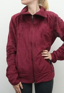 The North Face - Maroon Fleece Jumper - Large