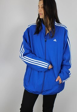 Vintage Adidas Sports Shell Jacket with Logo & Three Stripes
