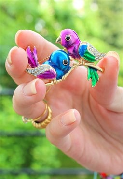 vintage Birds brooch