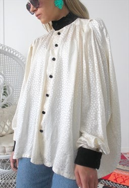 vintage shirt one size cream colour