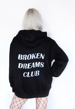 Broken Dreams Club Black Hoodie with Reflective Print