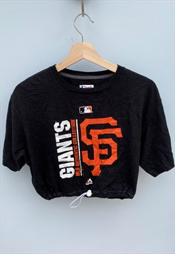 Giants Baseball Reworked Crop Top T-shirt MLB [L]