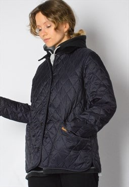 Y2K Navy Blue Barbour Quilted Jacket Petite