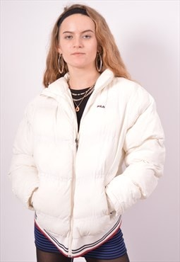 Vintage Fila Padded Jacket White