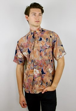 Vintage 90s Short Sleeve Patterned Shirt