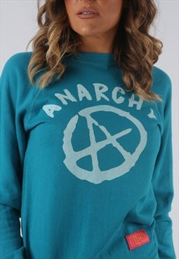 Sweatshirt Top Jumper BICH REBORN Anarchy Print UK 4 6  HKDO