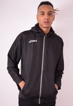 Asics Mens Vintage Jacket Large Black 90s