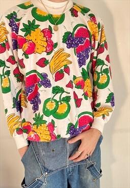 vintage fruit multicoloured sweatshirt