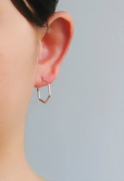 Geometric Sterling Silver Earrings