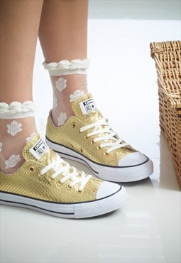 Summer White Jasmine Socks