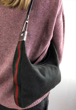 Womens Gucci Handbag & dust bag grey red green bag