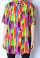 VINTAGE 90S COLOURFUL FESTIVAL SHIRT