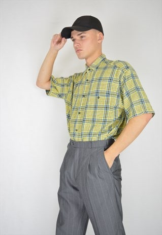 VINTAGE CHECKERED MULTICOLOUR SHORT SLEEVE SHIRT