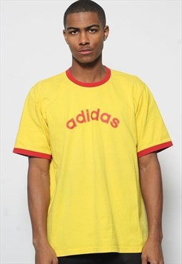 Vintage Adidas T-Shirt Yellow