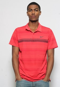 Vintage Nike Dri-Fit Polo Shirt Red
