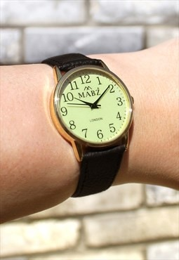 Customised Leather Luminous Watch