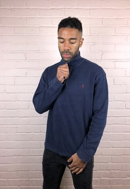 Vintage Ralph Lauren Quarter Zip Sweatshirt in Navy