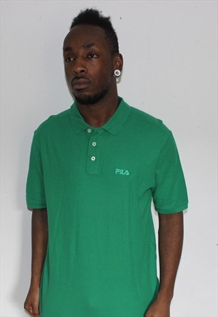 VINTAGE GREEN FILA POLO SHIRT LARGE